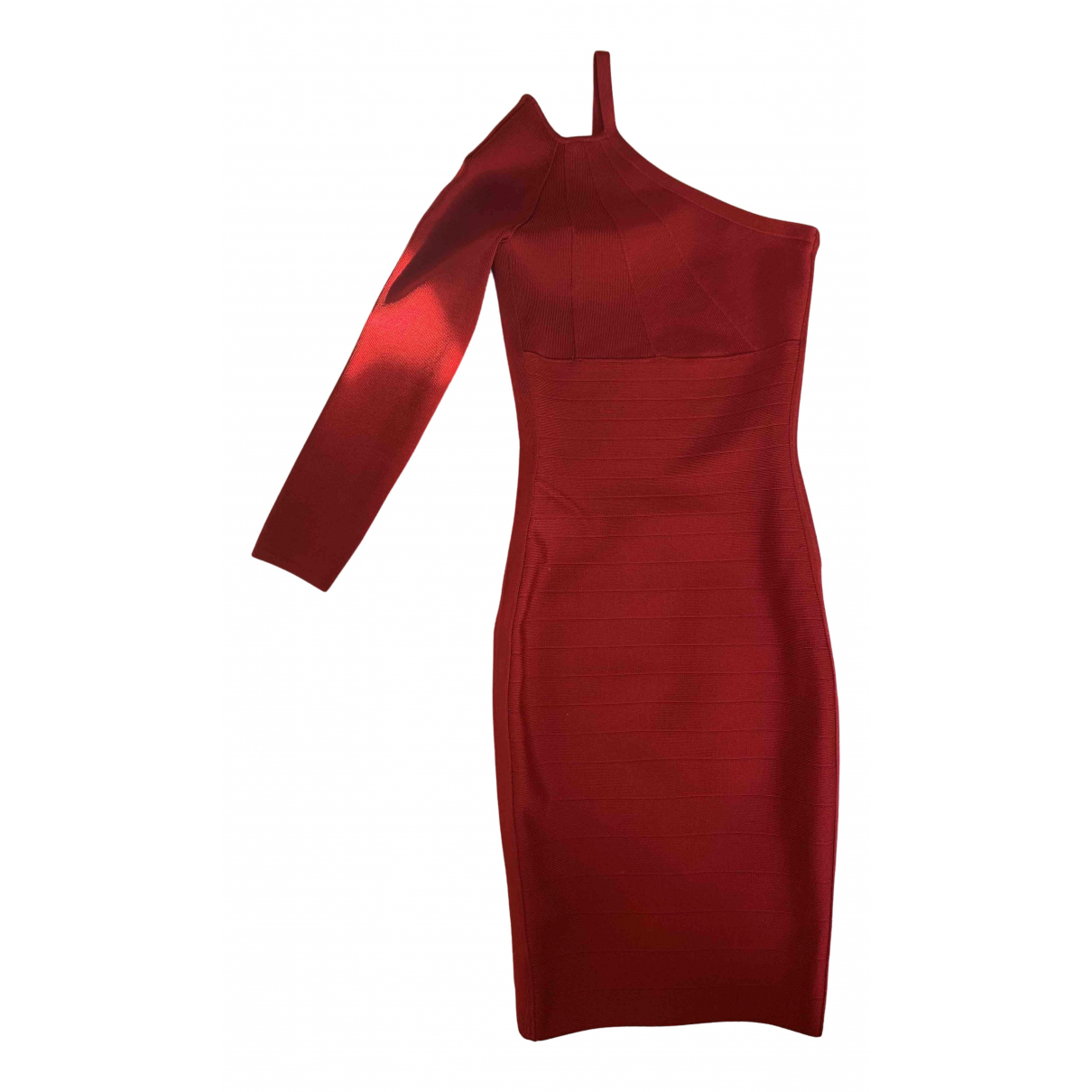 Non Signé / Unsigned N Red Cotton - elasthane dress for Women 38 IT