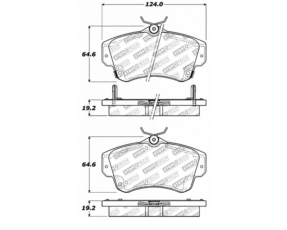StopTech 305.0841 Street Select Brake Pads with Hardware Chrysler PT Cruiser Front