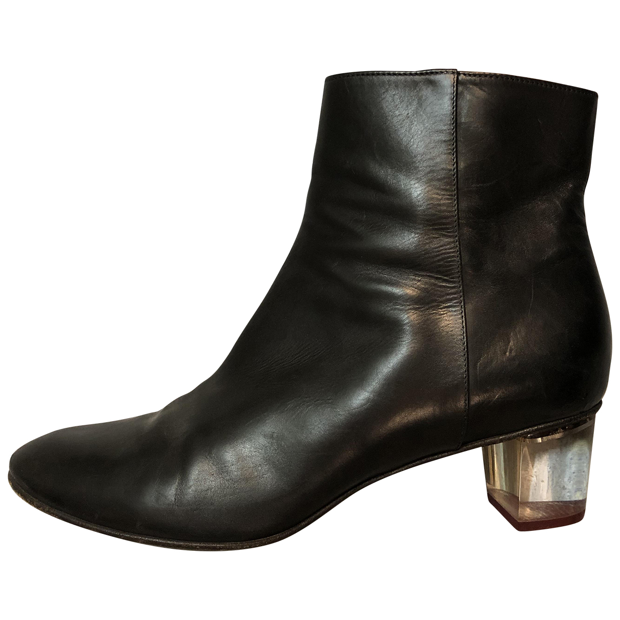 Dries Van Noten \N Black Leather Ankle boots for Women 40 EU
