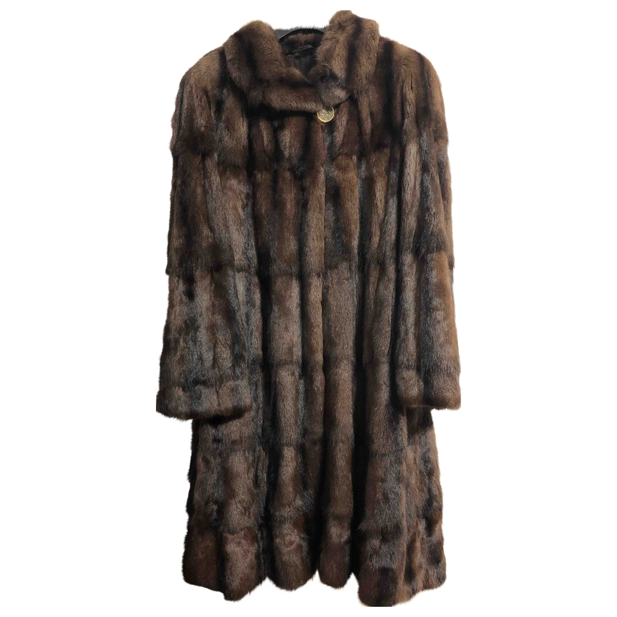 Non Signé / Unsigned \N Brown Fur coat for Women L International