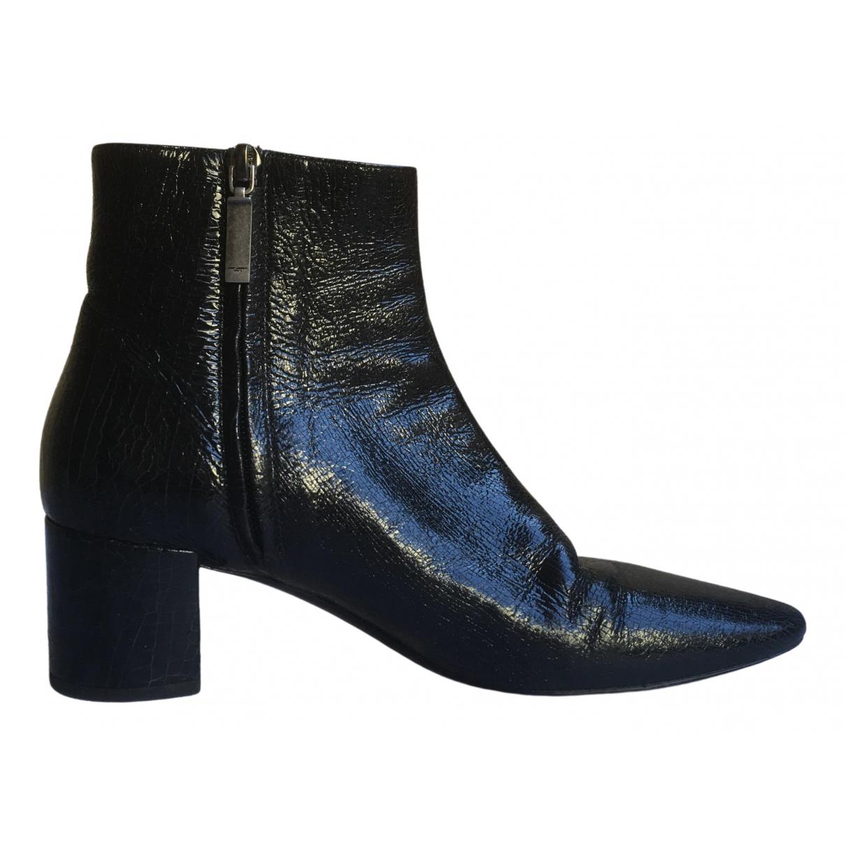 Saint Laurent - Boots Loulou pour femme en cuir - noir