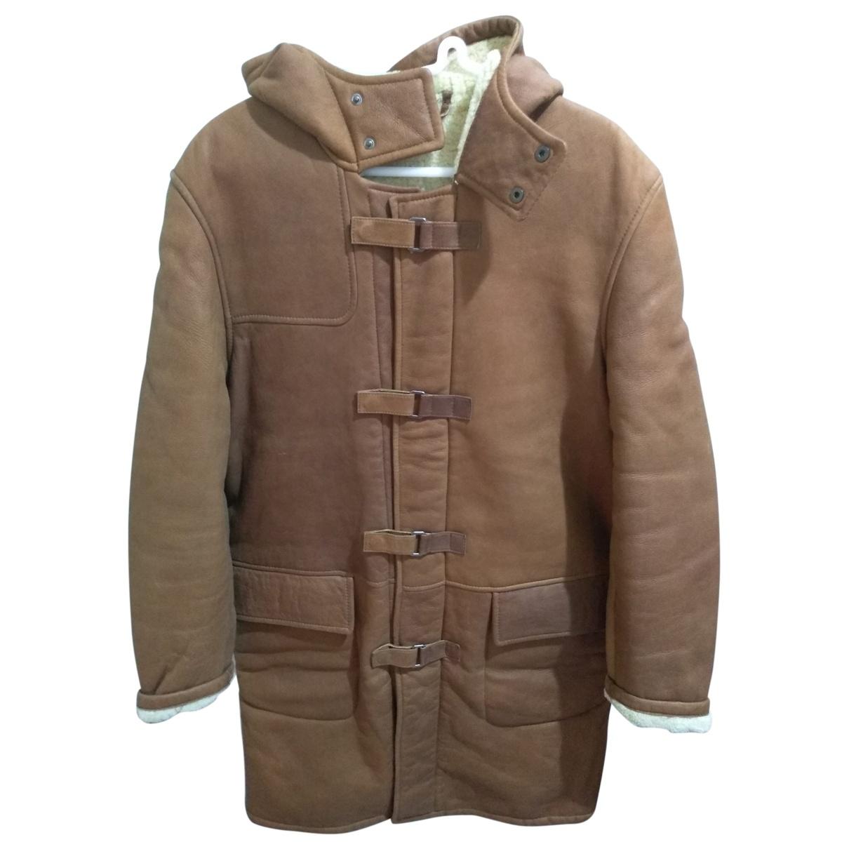 Burberry - Manteau   pour homme en mouton - camel