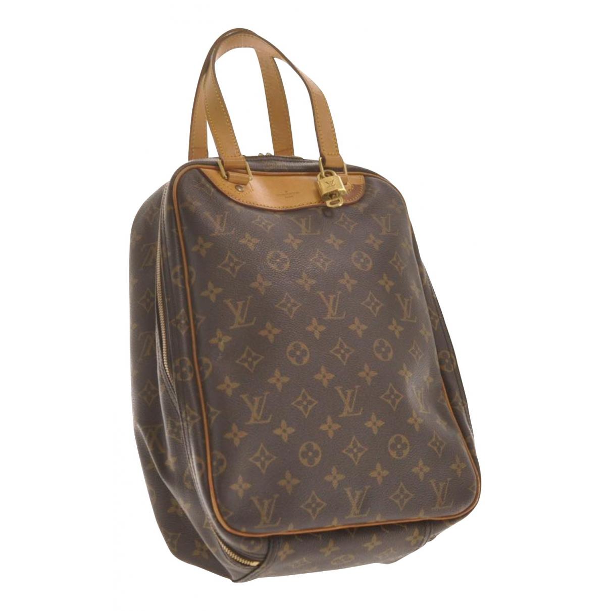 Louis Vuitton Excursion  Handtasche in  Braun Leinen