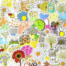 50pcs Daisy Pattern Sticker