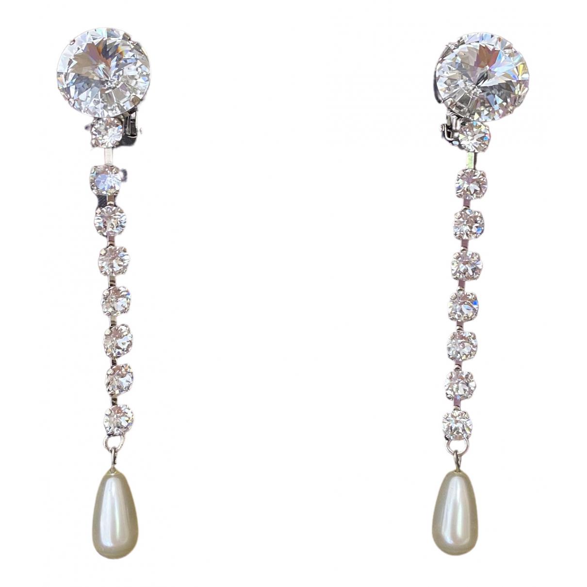 Miu Miu - Boucles doreilles   pour femme en cristal - argente