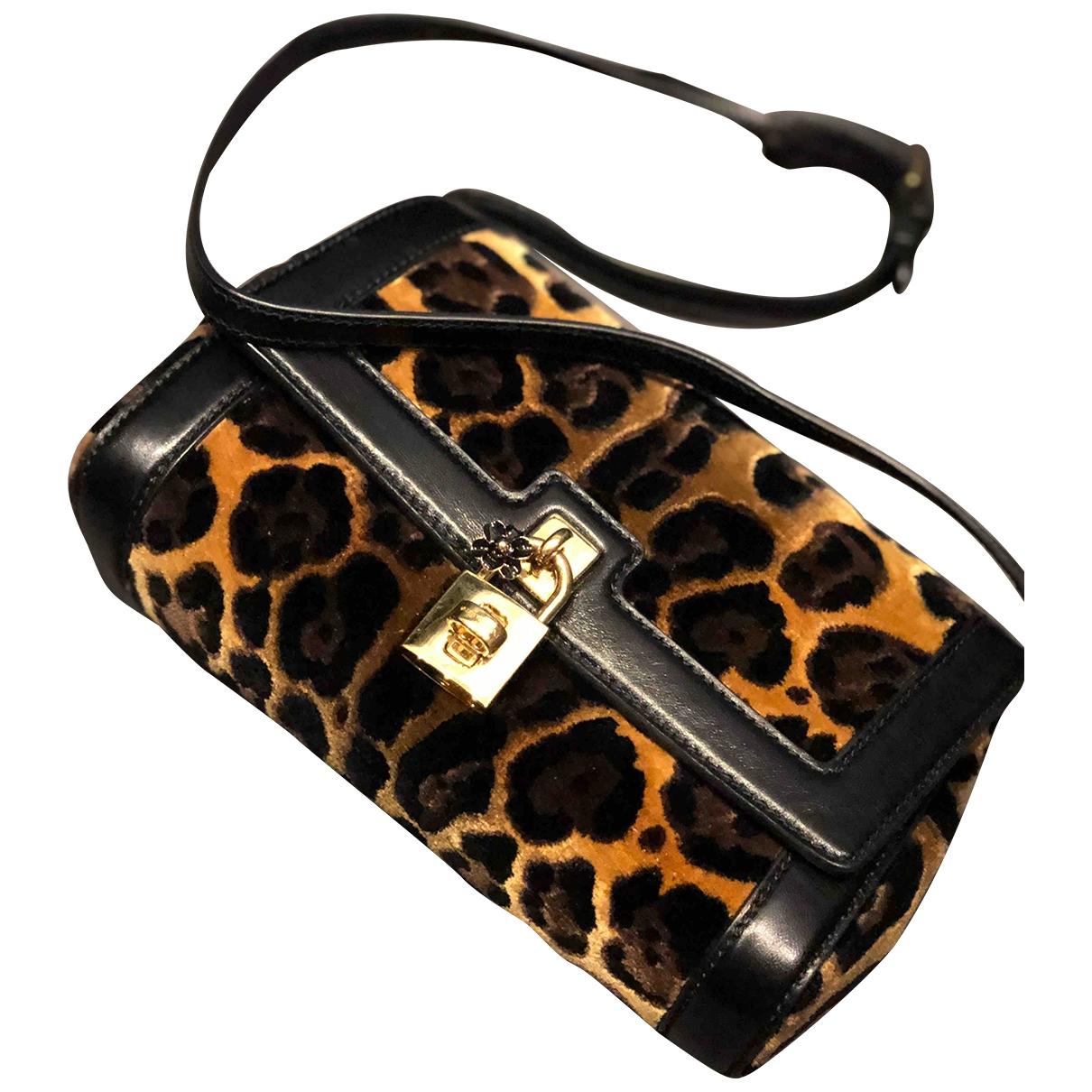 Dolce & Gabbana \N Handtasche in  Braun Samt