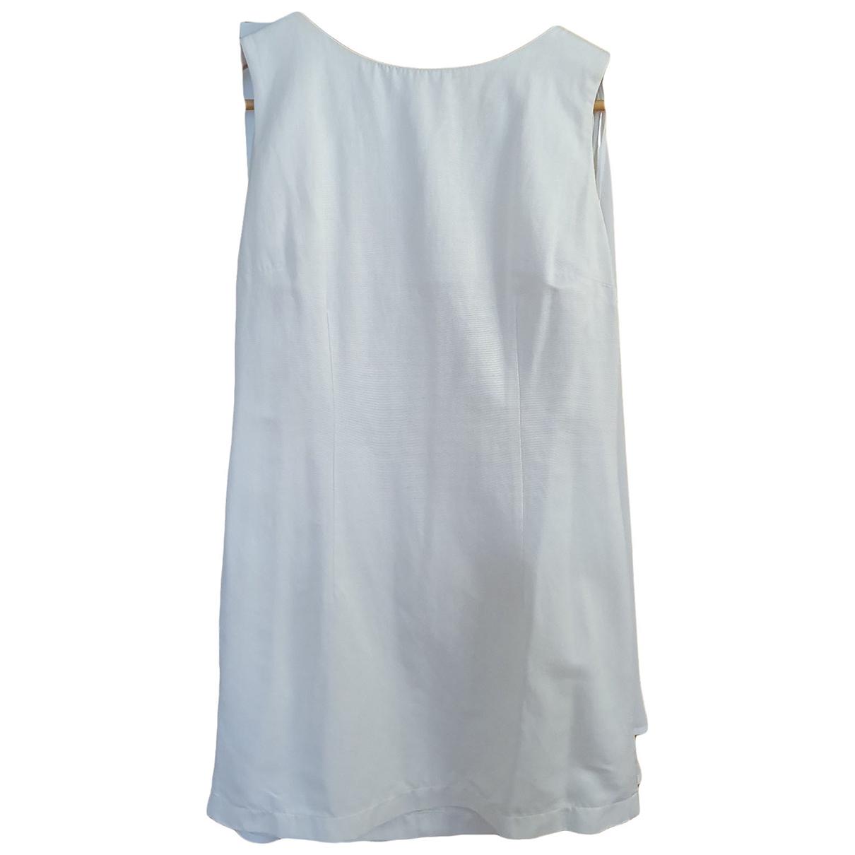 Topshop - Robe   pour femme en coton - blanc
