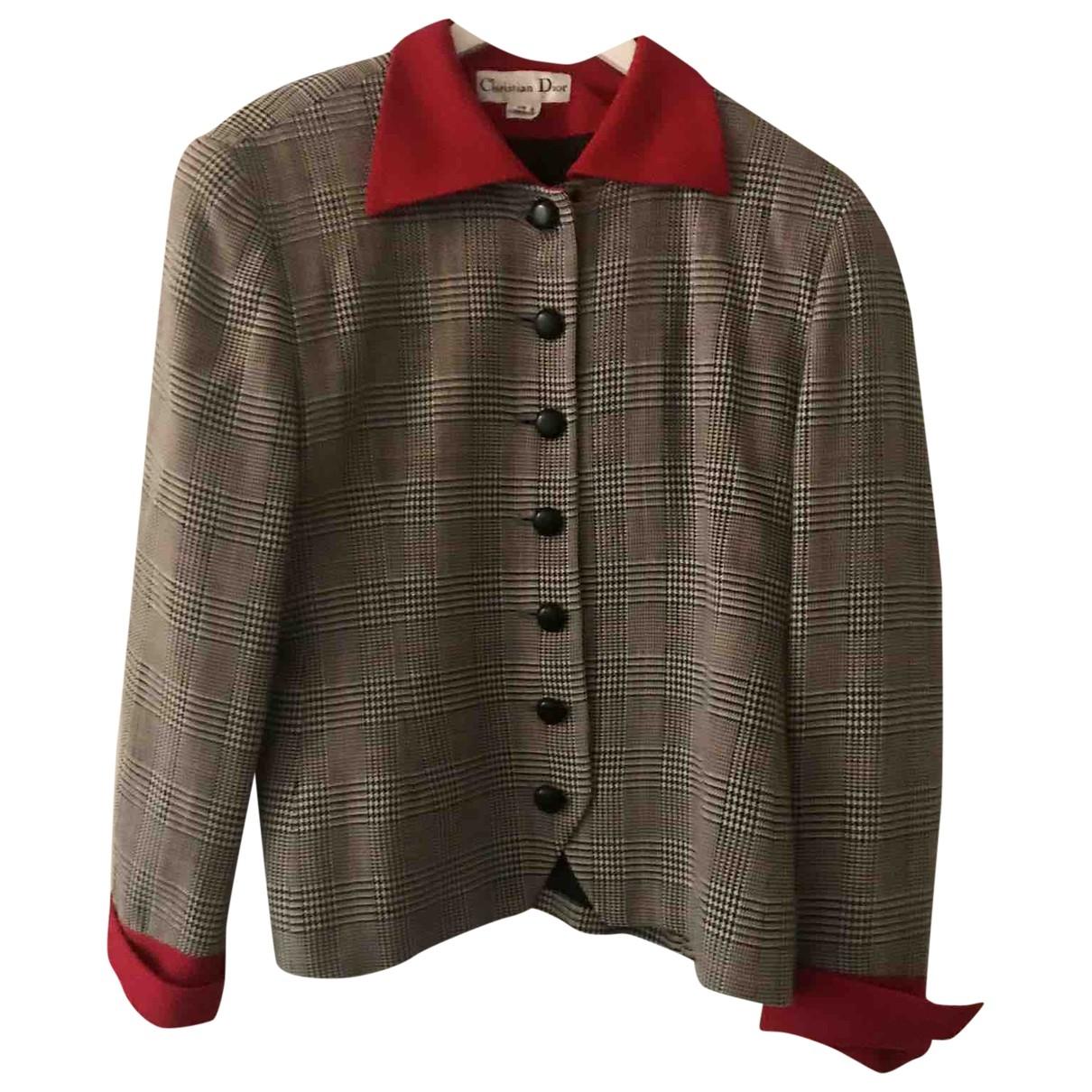 Dior \N Grey Wool jacket for Women 44 FR