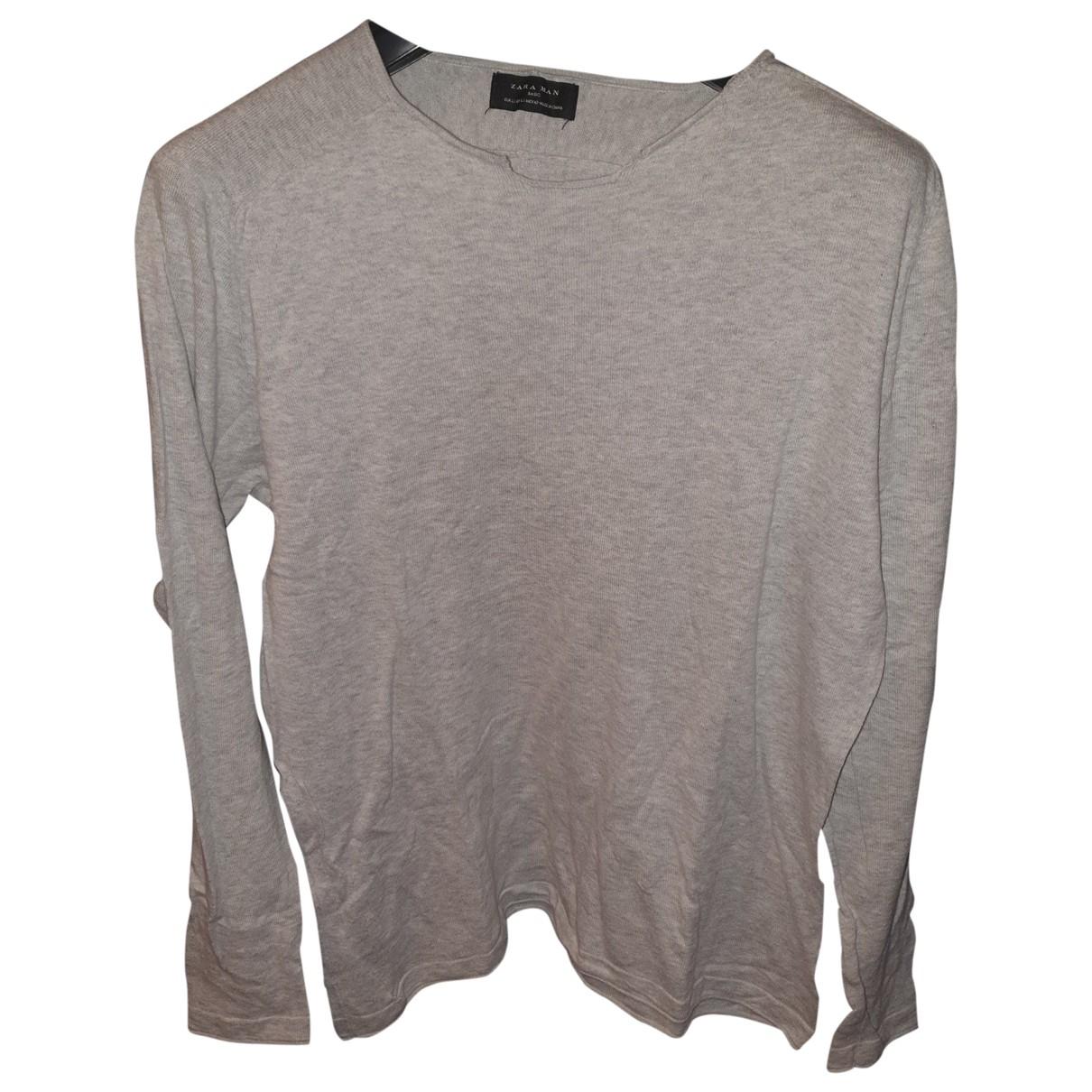 Zara \N Grey Cotton Knitwear & Sweatshirts for Men L International