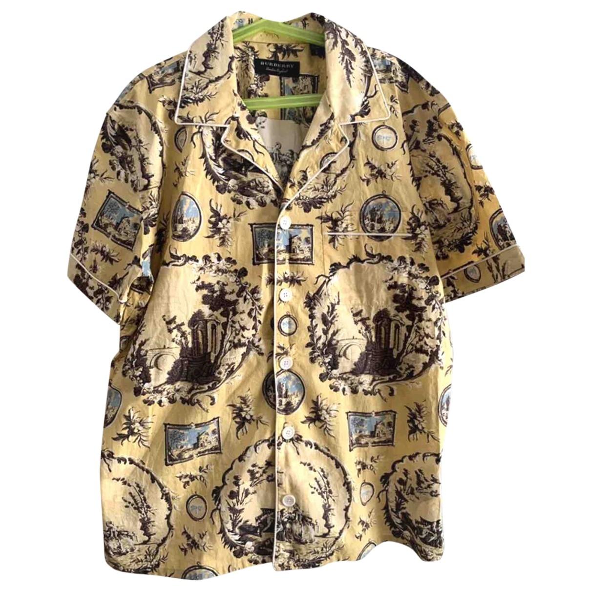 Burberry - Chemises   pour homme en coton - jaune