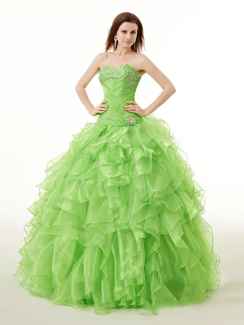 Ericdress Ruffles Ball Quinceanera Dress With Beadings