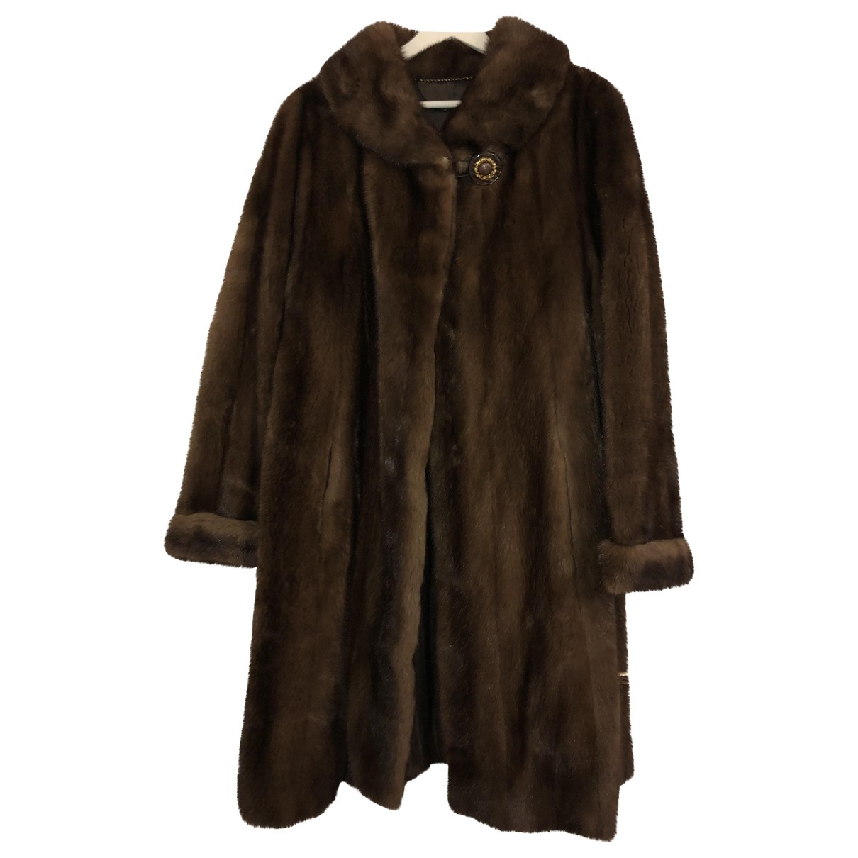 Non Signé / Unsigned \N Brown Mink coat for Women 36 FR