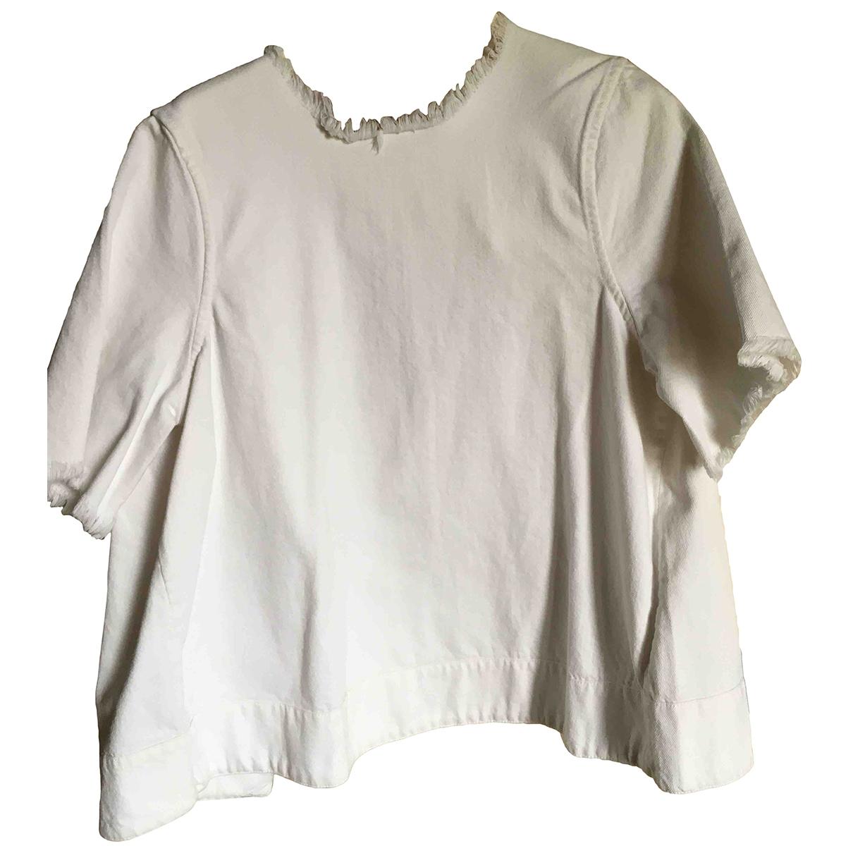 - Top   pour femme en denim - blanc