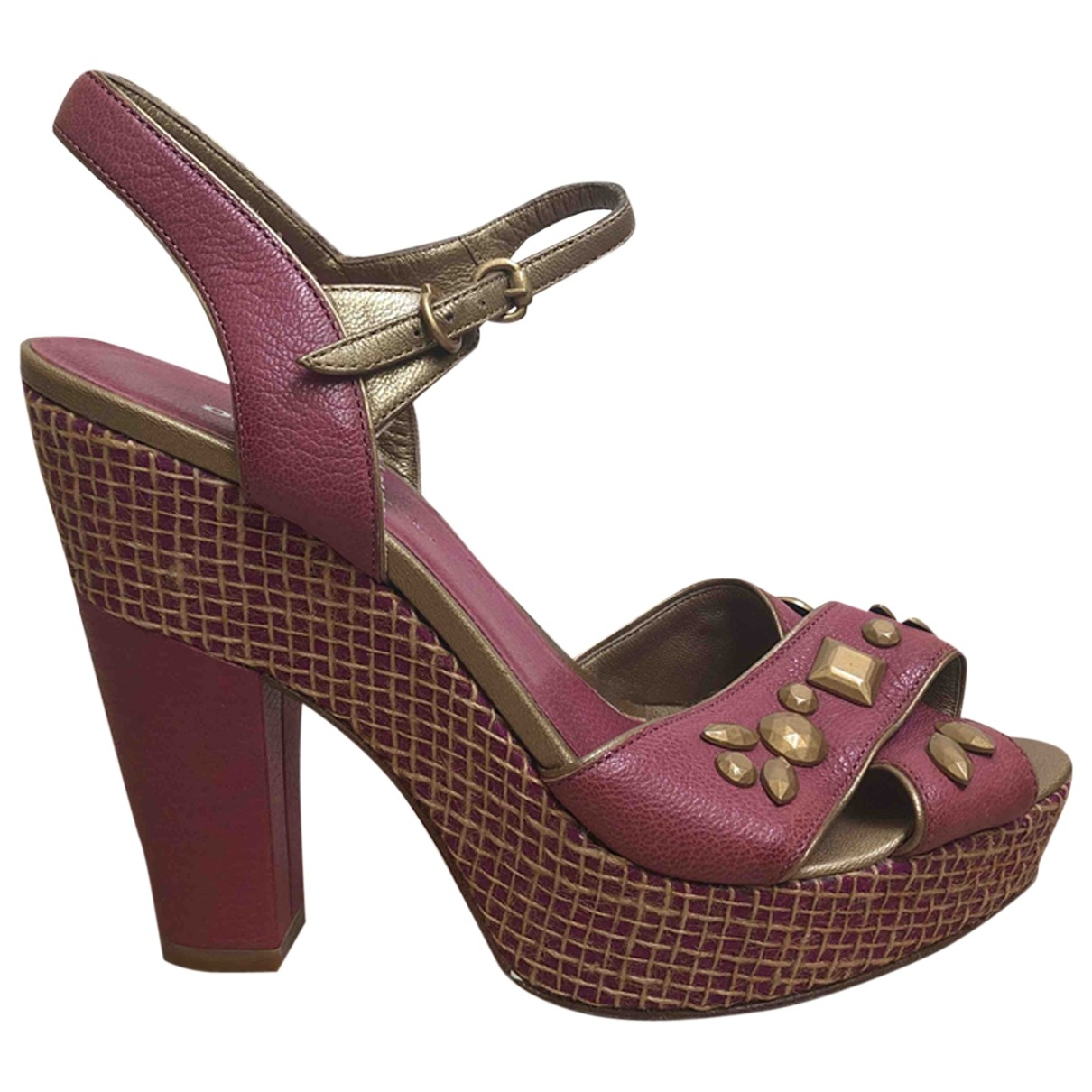 Dkny \N Pink Leather Heels for Women 7.5 US