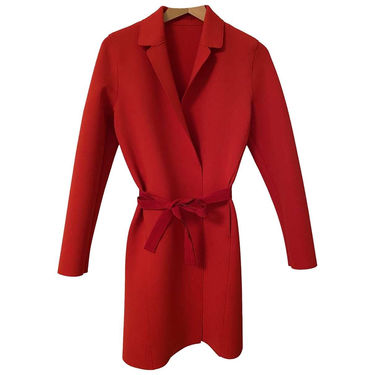 Non Signé / Unsigned \N Red coat for Women 40 IT