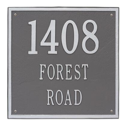 2118PS Personalized Square Plaque - Estate - Wall - 3 line in