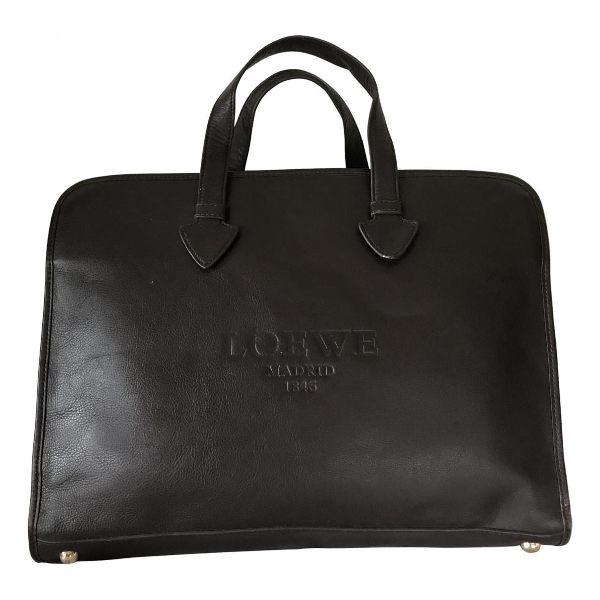 Loewe N Brown Leather bag for Men N