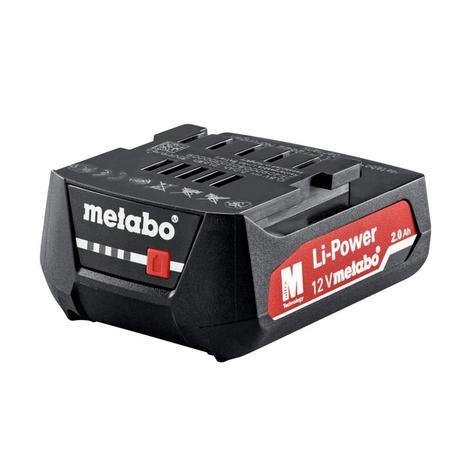Metabo BatteryPack 12V, 2.0Ah, Li-Power