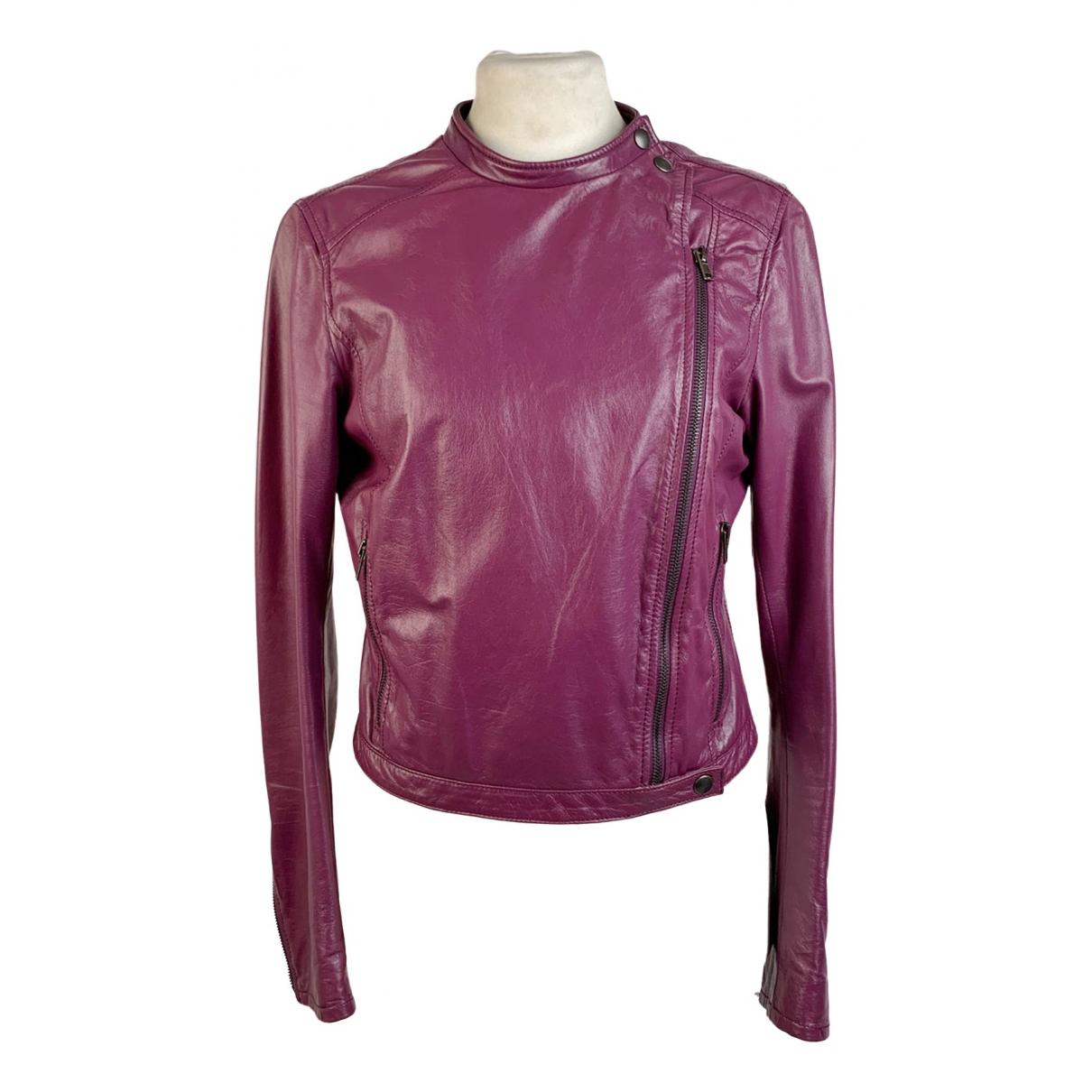 Miu Miu - Veste   pour femme en cuir - violet