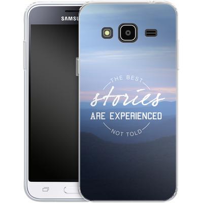 Samsung Galaxy J3 (2016) Silikon Handyhuelle - Stories von Statements