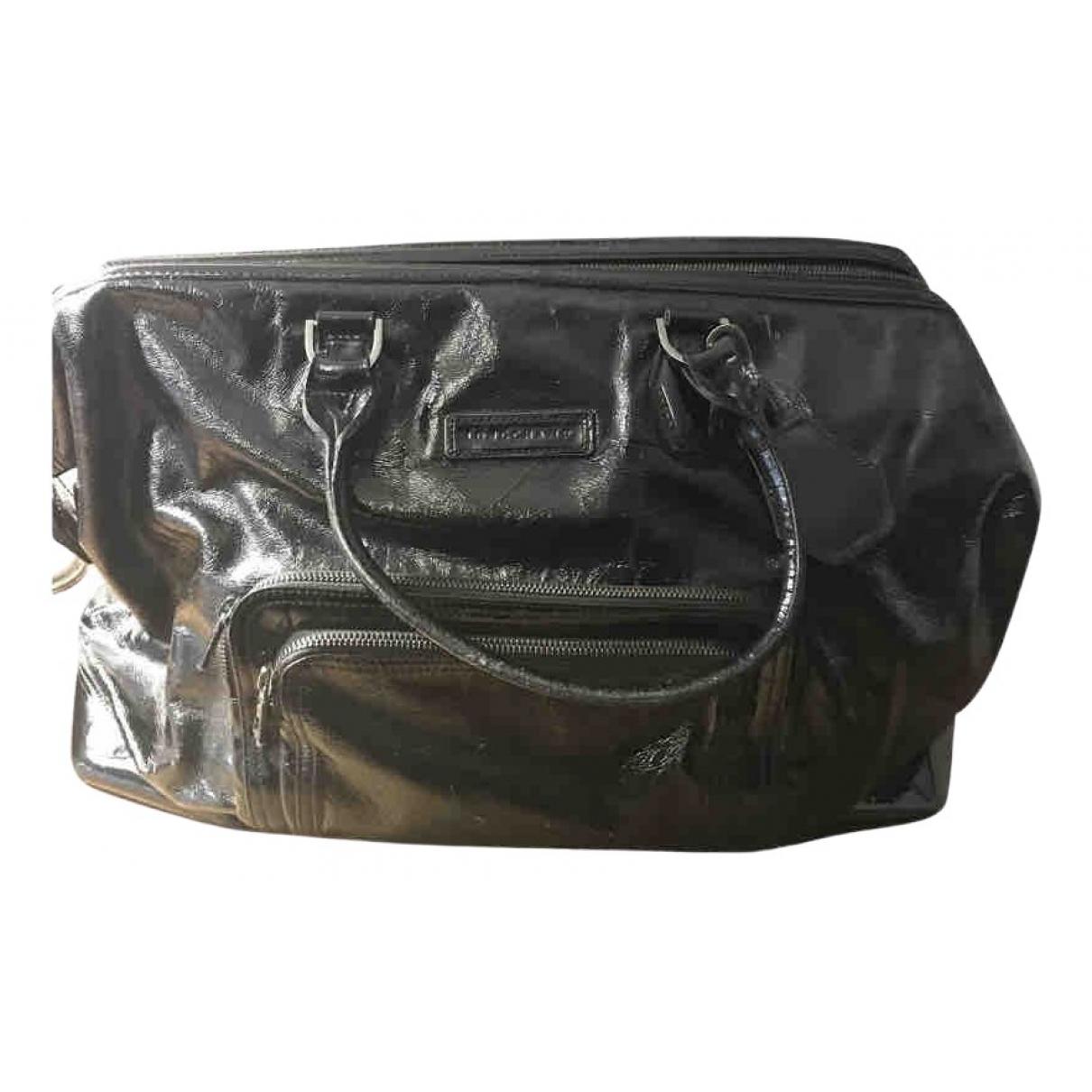 Longchamp Legende Handtasche in  Schwarz Lackleder