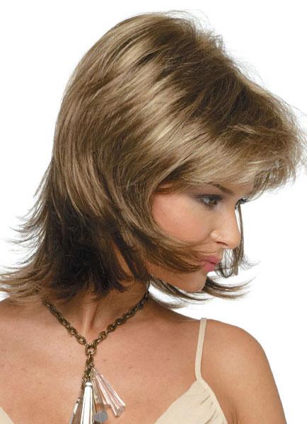 Milanoo Fibra resistente al calor directo corto pelucas para las mujeres