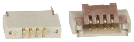 Hirose FH19 0.5mm Pitch 4 Way Right Angle SMT Female FPC Connector, ZIF Bottom Contact (5)