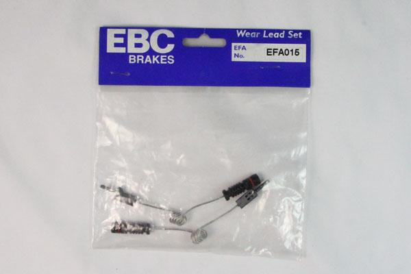 EBC Brakes EFA015 Wear Leads Front Disc Brake Pad Wear Sensor FMSI D950 Dodge Rear