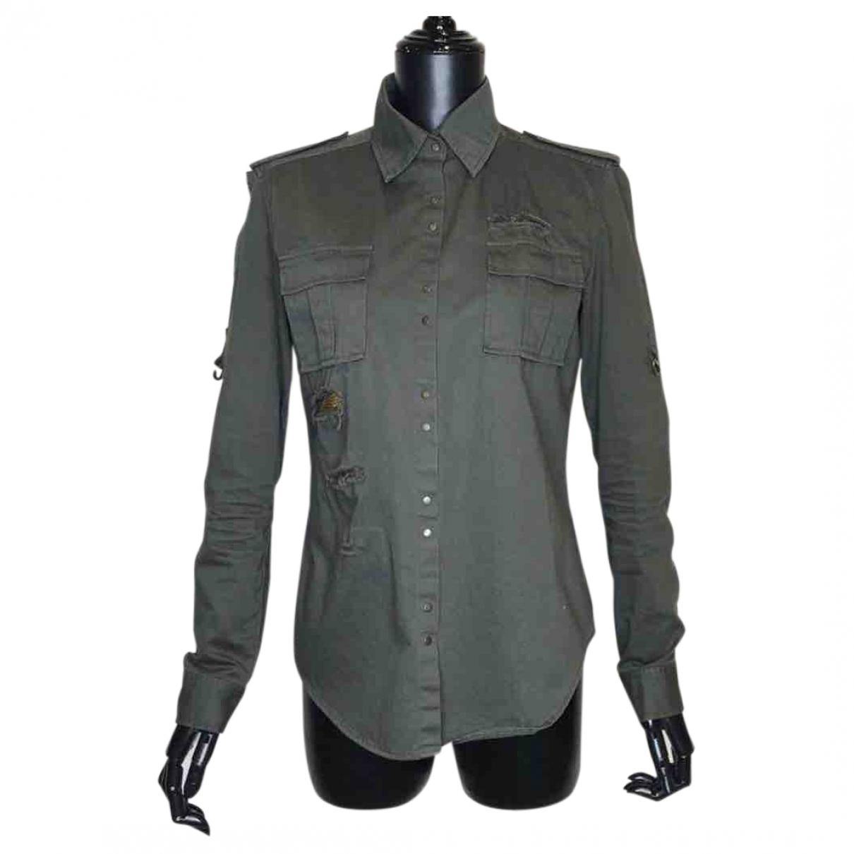 Balmain \N Khaki Cotton  top for Women 38 FR