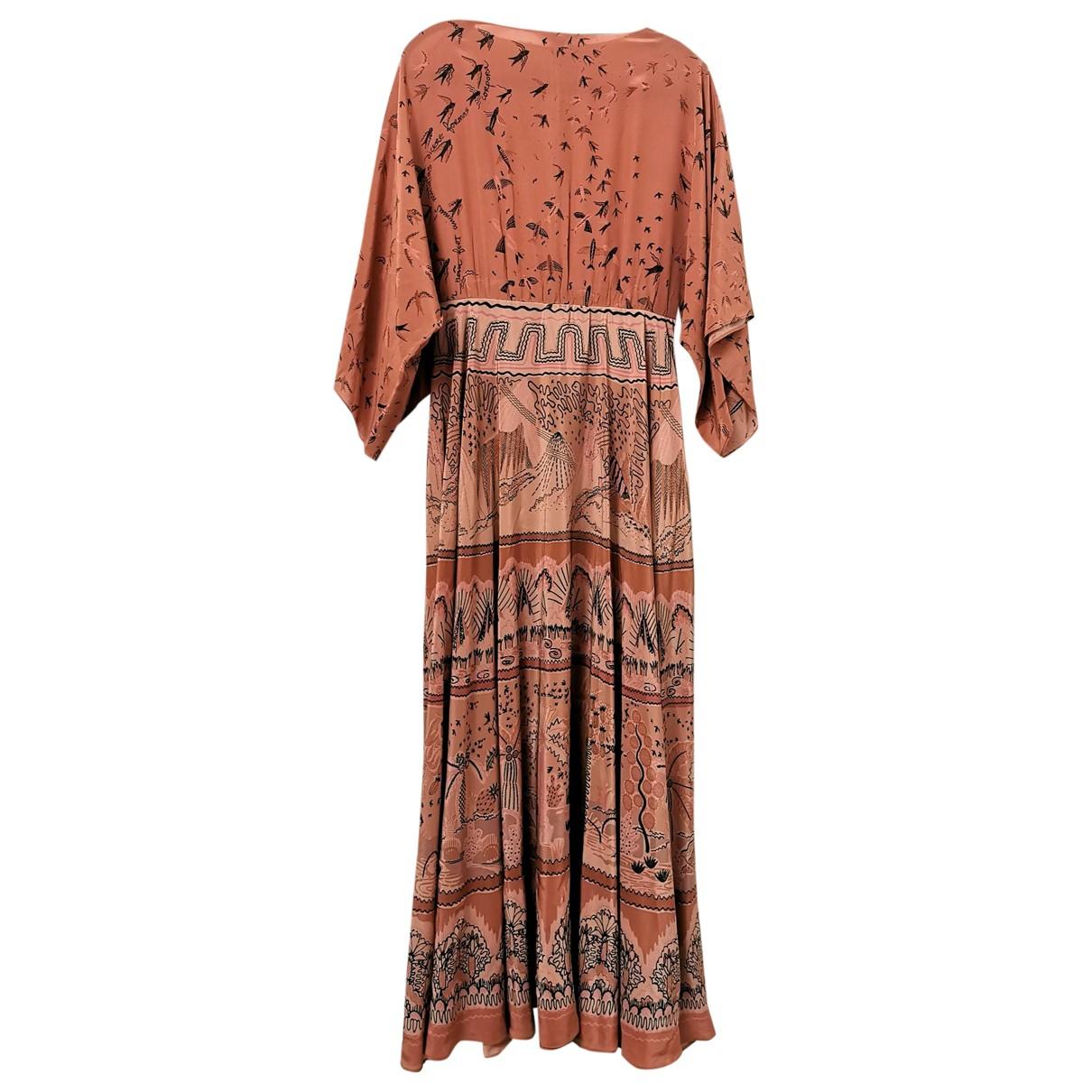Valentino Garavani - Robe   pour femme en soie - marron