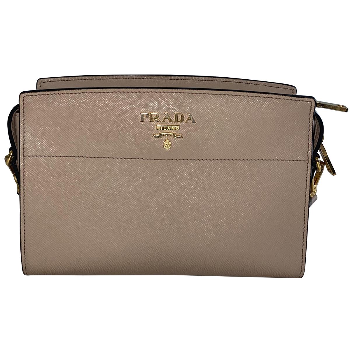 Prada Esplanade Handtasche in  Beige Leder
