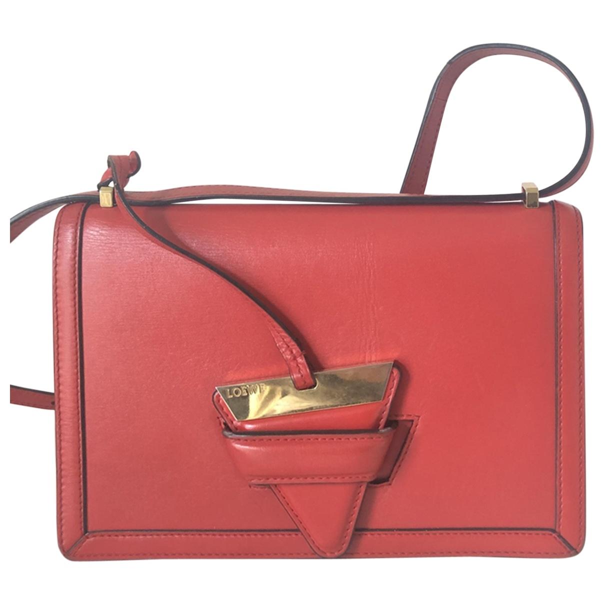 Loewe - Sac a main Barcelona pour femme en cuir - rouge