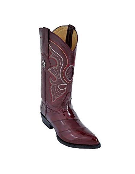 Mens Cognac King Eel Skin J-Toe Los Altos Boot Sandle Vamp