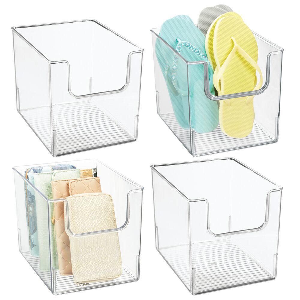 Wide Plastic Closet Storage Organizer Bin - 10