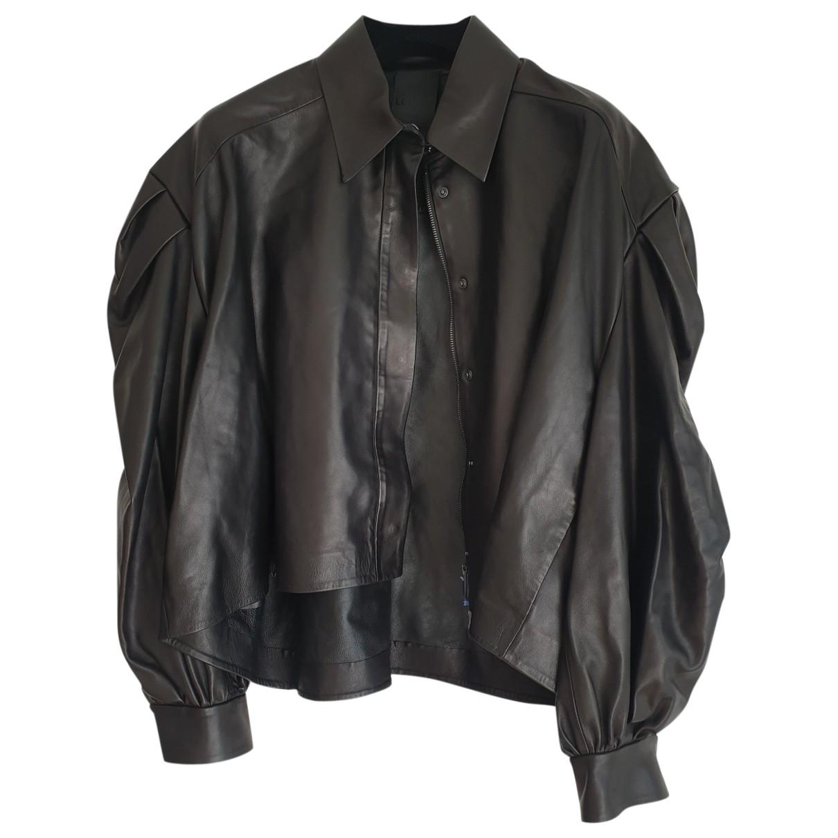 Valentino Garavani \N Black Leather jacket for Women 46 IT
