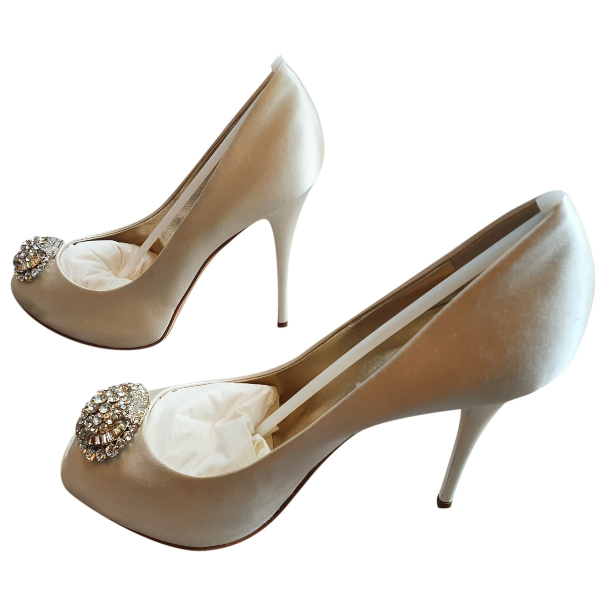 Giuseppe Zanotti \N White Cloth Heels for Women 40 EU