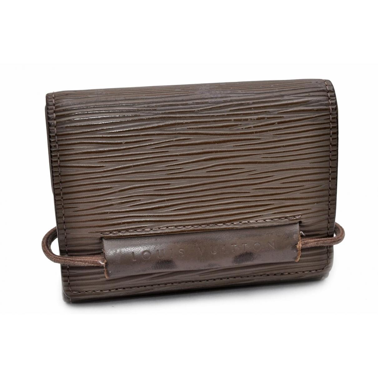 Louis Vuitton - Portefeuille   pour femme en cuir - kaki
