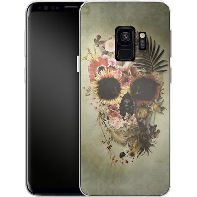 Samsung Galaxy S9 Silikon Handyhuelle - Garden Skull Light von Ali Gulec