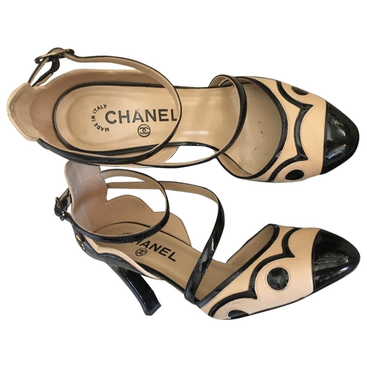 Chanel \N Beige Leather Heels for Women 37 EU
