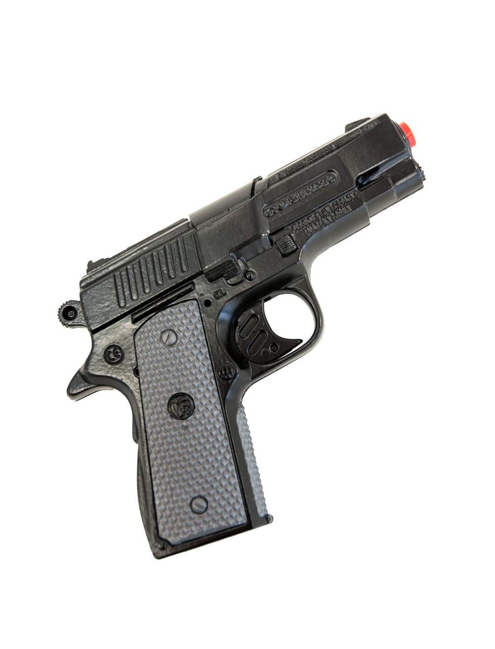 Kostuemzubehor Pistole Elite schwarz 8-Schuss