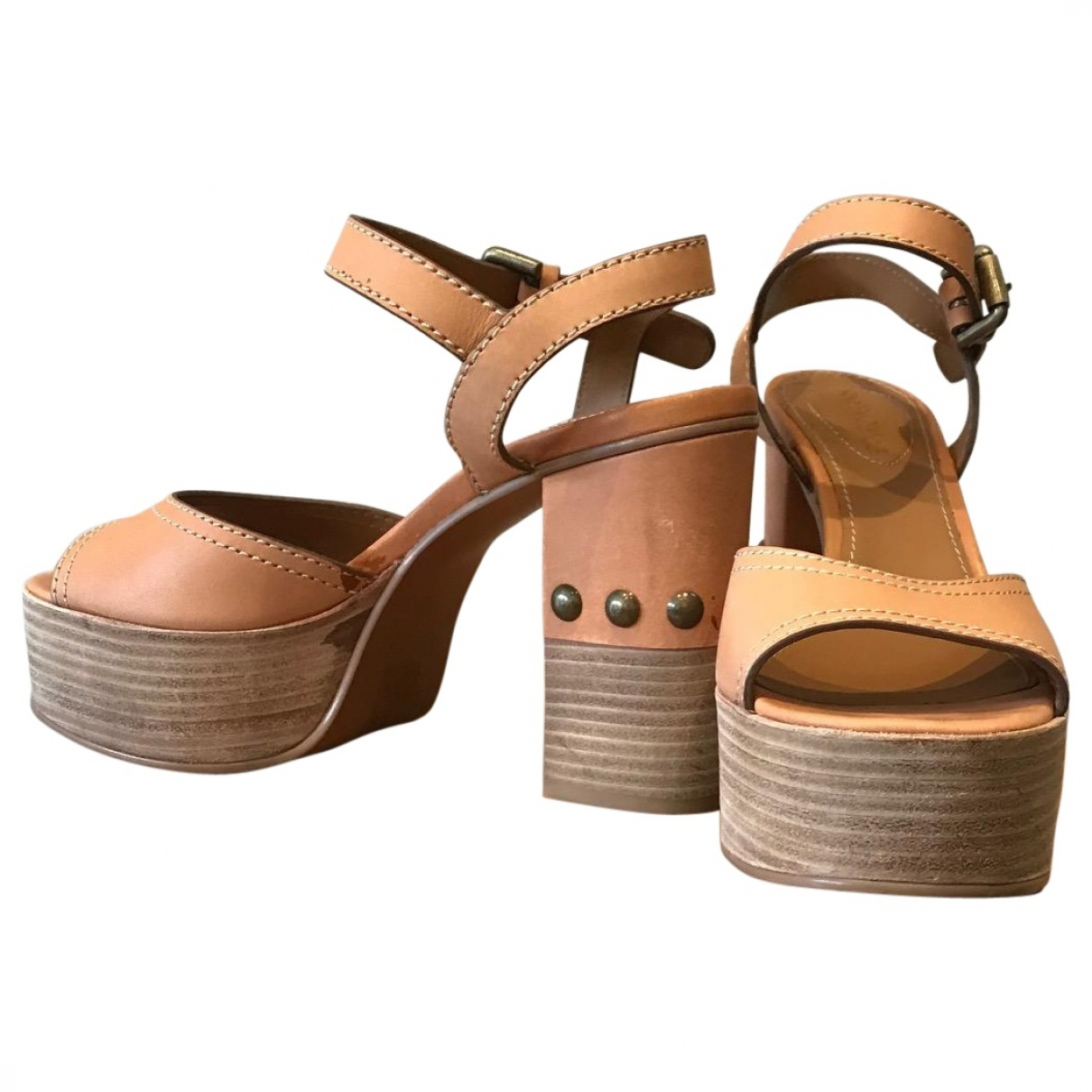 See By Chloé \N Camel Leather Sandals for Women 37 EU