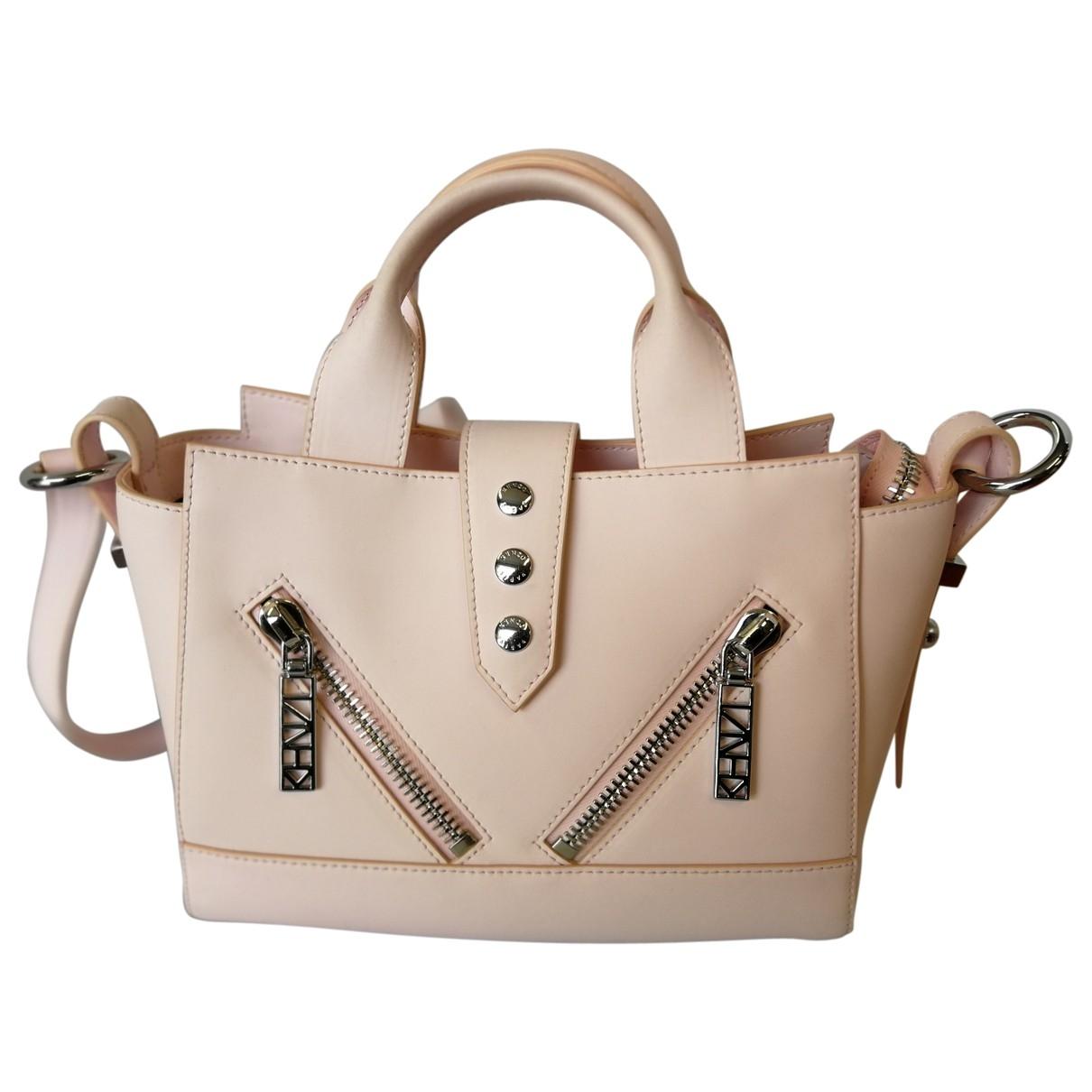 Kenzo Kalifornia Handtasche in  Rosa Leder