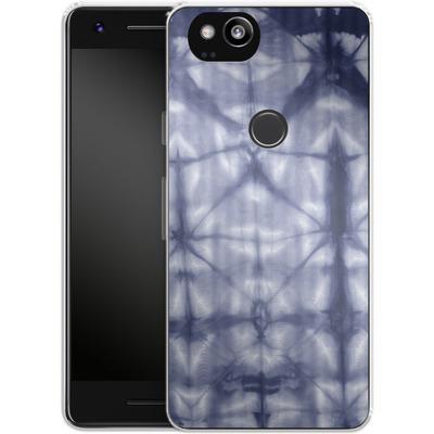 Google Pixel 2 Silikon Handyhuelle - Tie Dye 2 Navy von Amy Sia