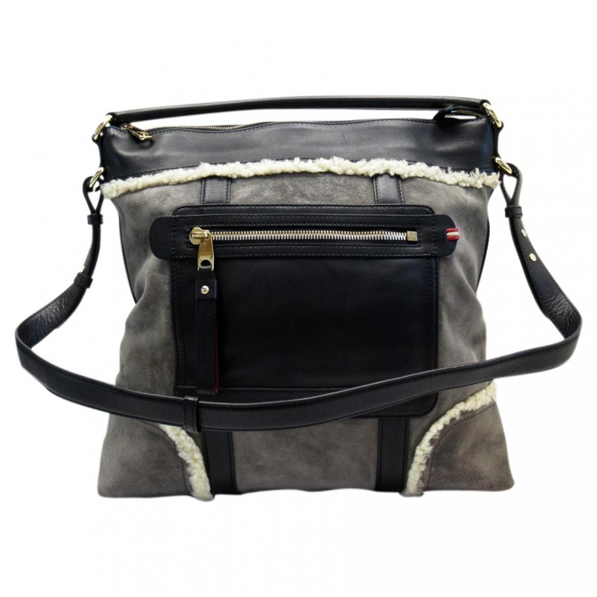Bally \N Handtasche in  Grau Veloursleder