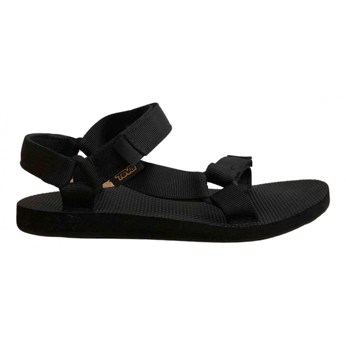 Teva - Sandales   pour femme en caoutchouc - noir