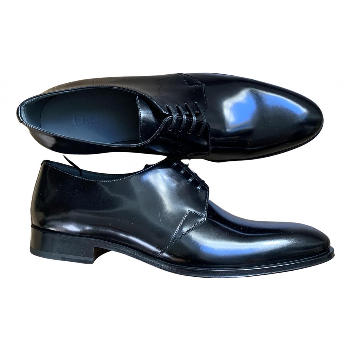 Dior - Derbies   pour homme en cuir verni - noir