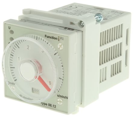 Finder DPDT Multi Function Timer Relay - 0.05-10 min, 0.05-10 h, 0.05-10 s, 5-100 h, 2 Contacts, Chassis Mount