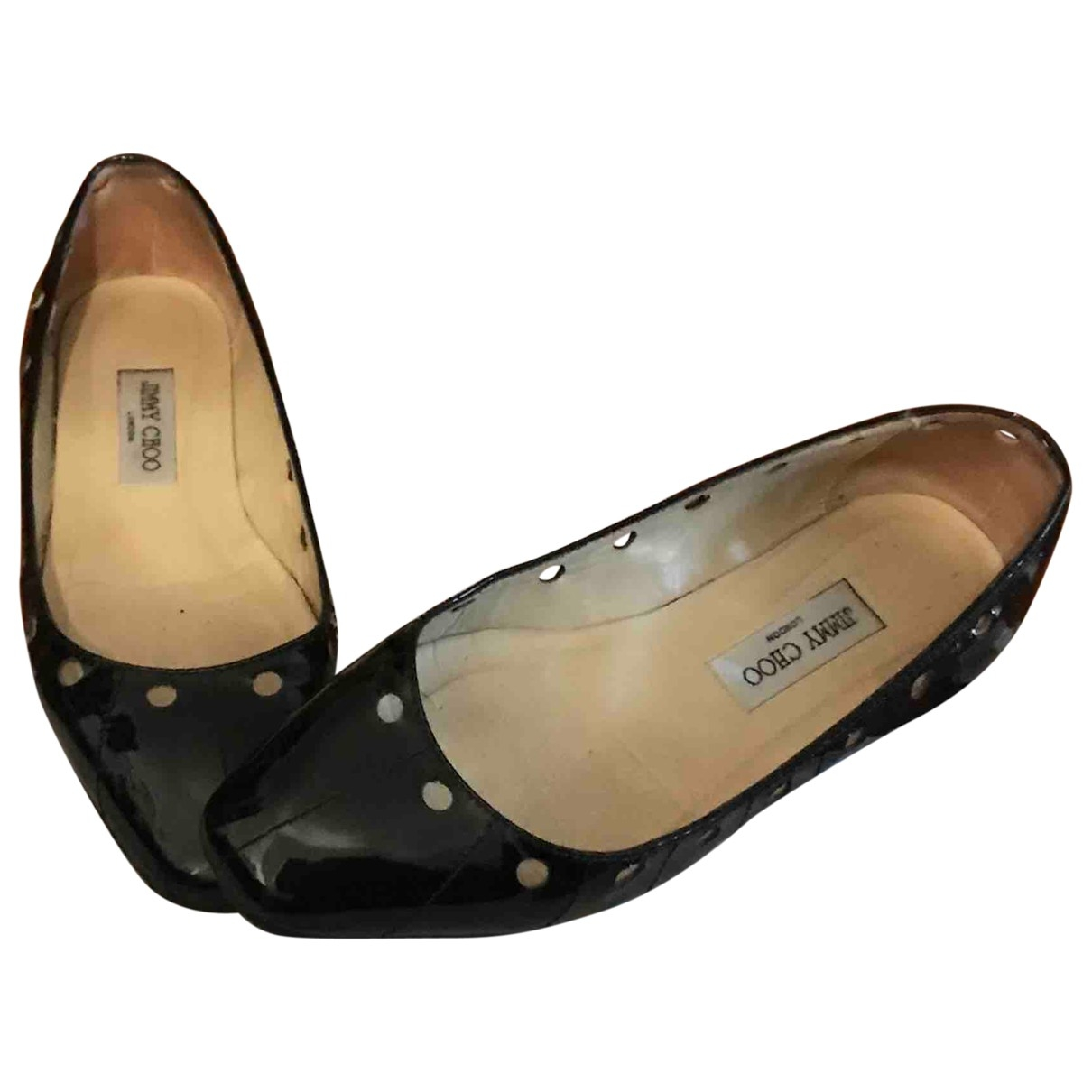 Jimmy Choo \N Black Patent leather Ballet flats for Women 39 EU