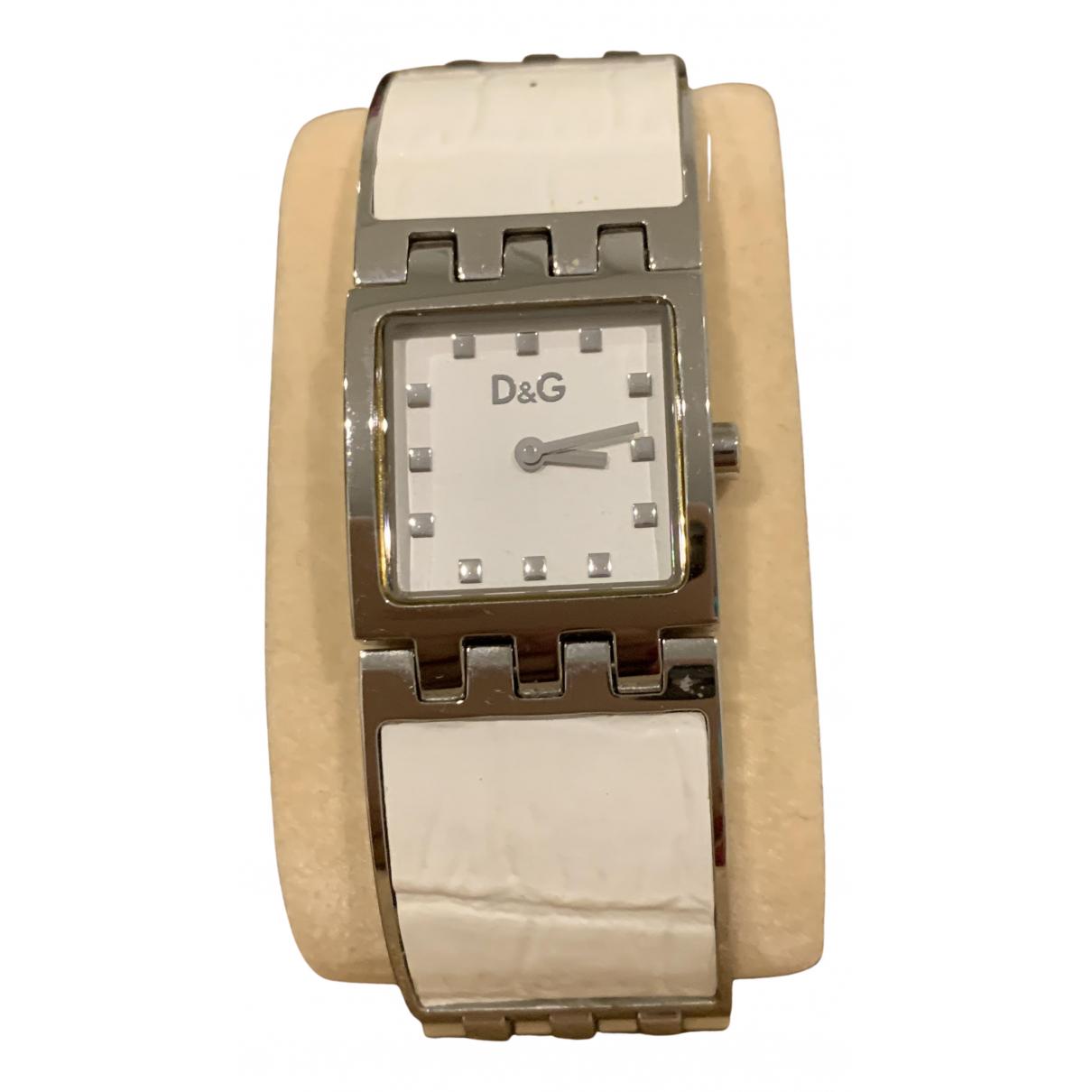 D&g \N White Steel watch for Women \N