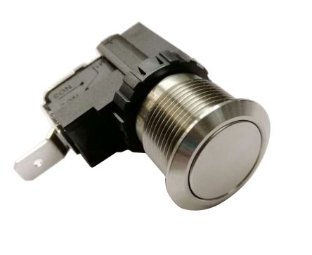 RS PRO Single Pole Single Throw (SPST) Maintained Push Button Switch, IP67, 19.1 (Dia.)mm, Panel Mount, 250 / 125V ac (20)